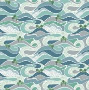 Lewis & Irene - Littondale - 6519 - Hills, Blue on White - A357.1 - Cotton Fabric